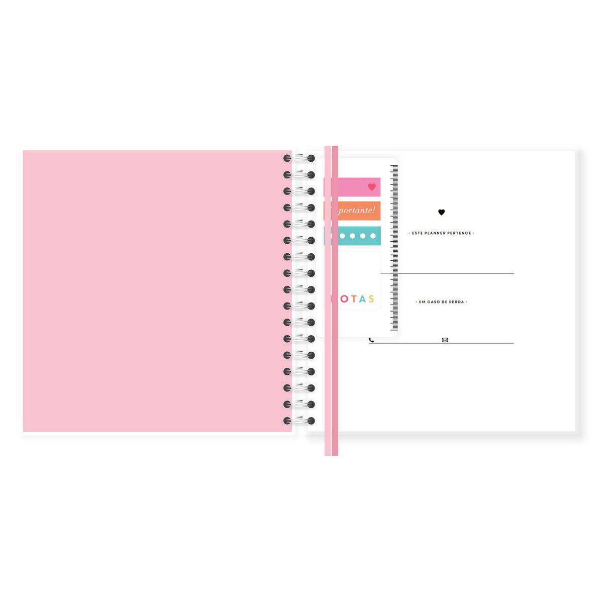 Planner Mensal Gato Rose Lubi