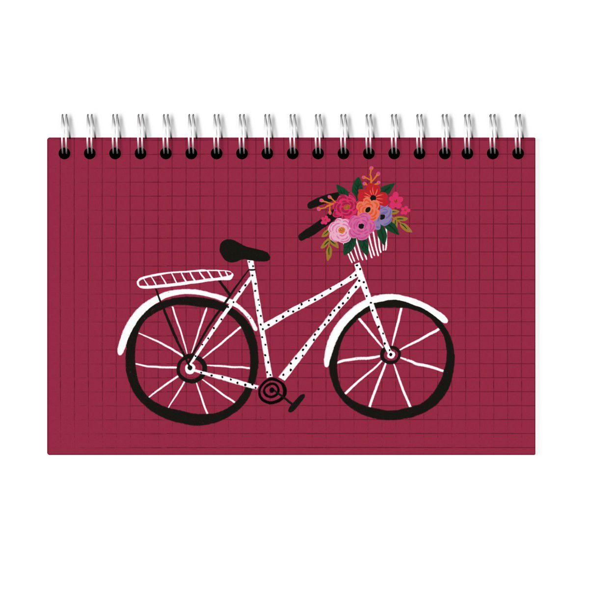 Planner Semanal Bicicleta Vinho Lubi