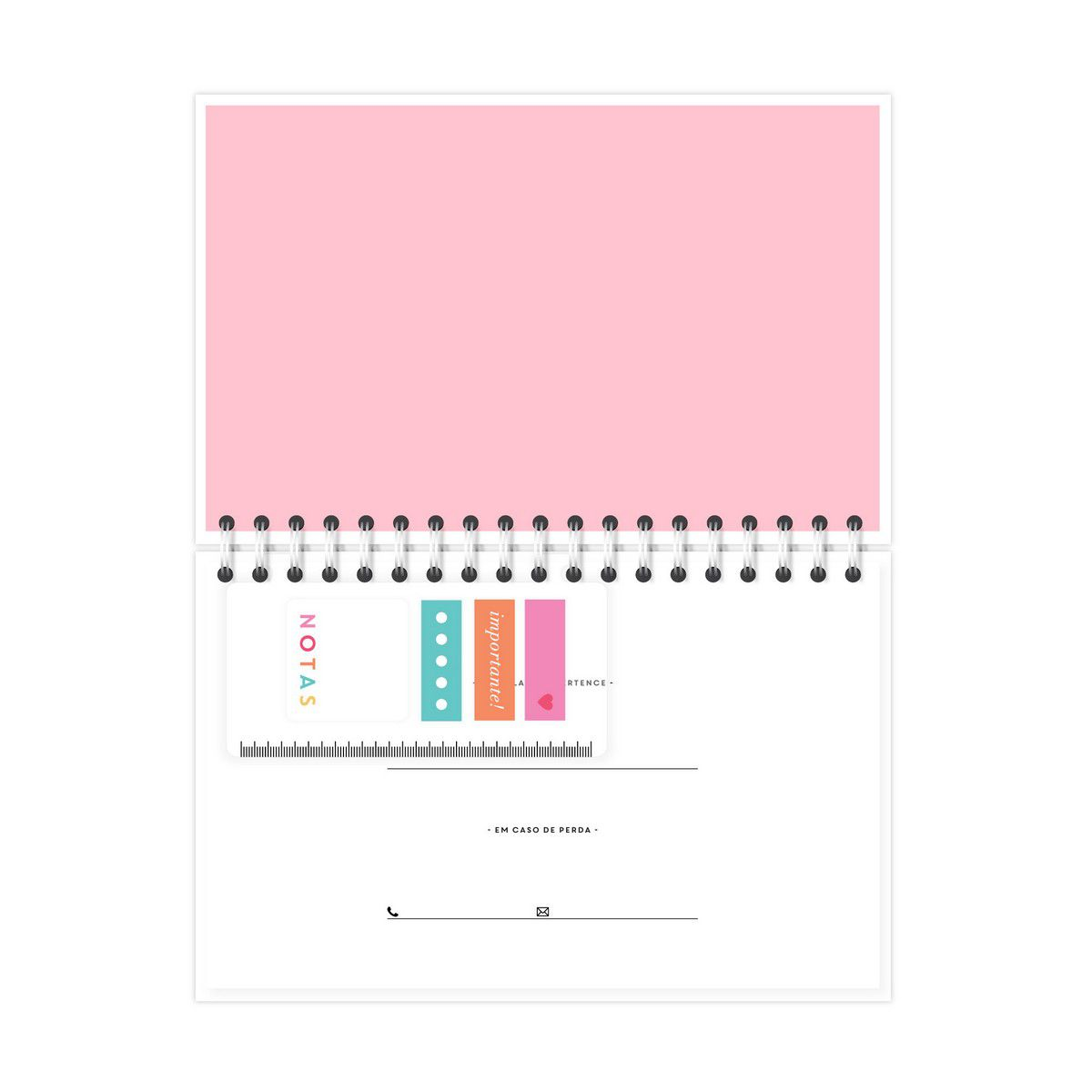 Planner Semanal Gato Rose Lubi