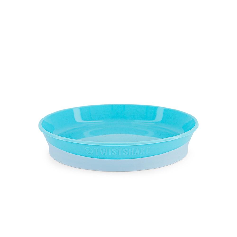 Prato raso com tampa Azul Twistshake