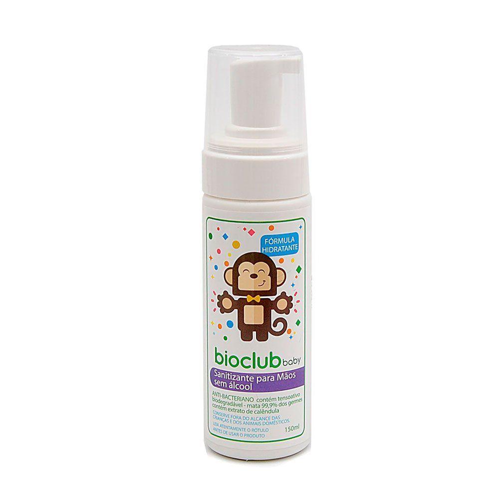 Sanitizante para mãos sem álcool 150 ml BioClub