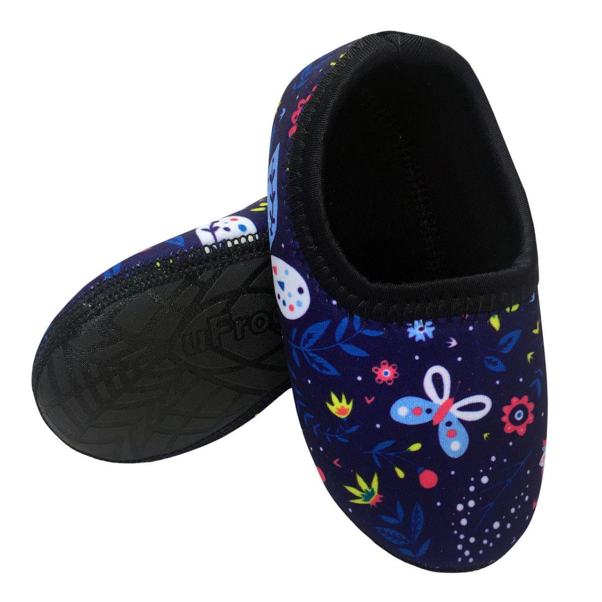 Sapato de Neoprene Infantil Fit Borboleta Ufrog