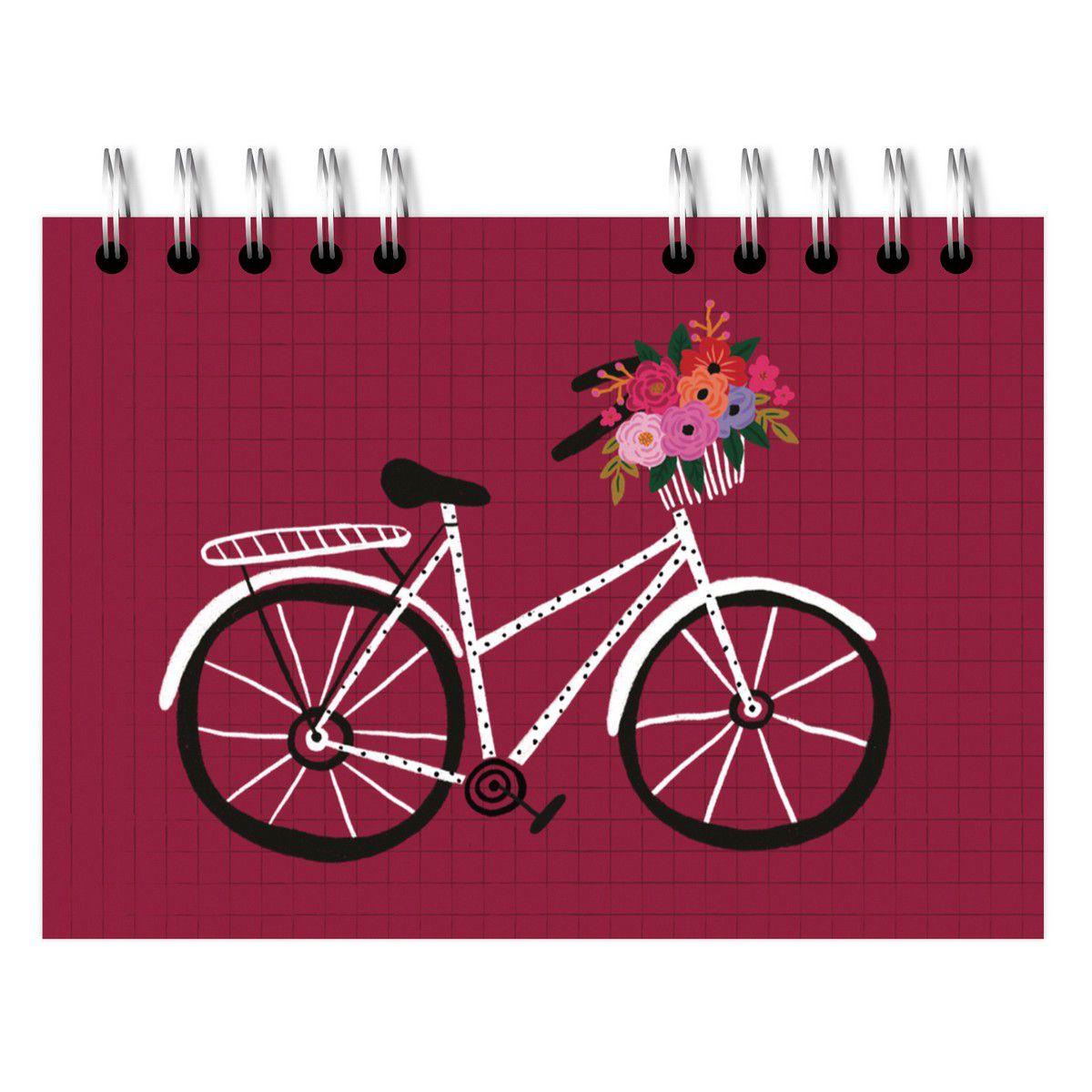 Sketchbook A5 Bicicleta Vinho Lubi