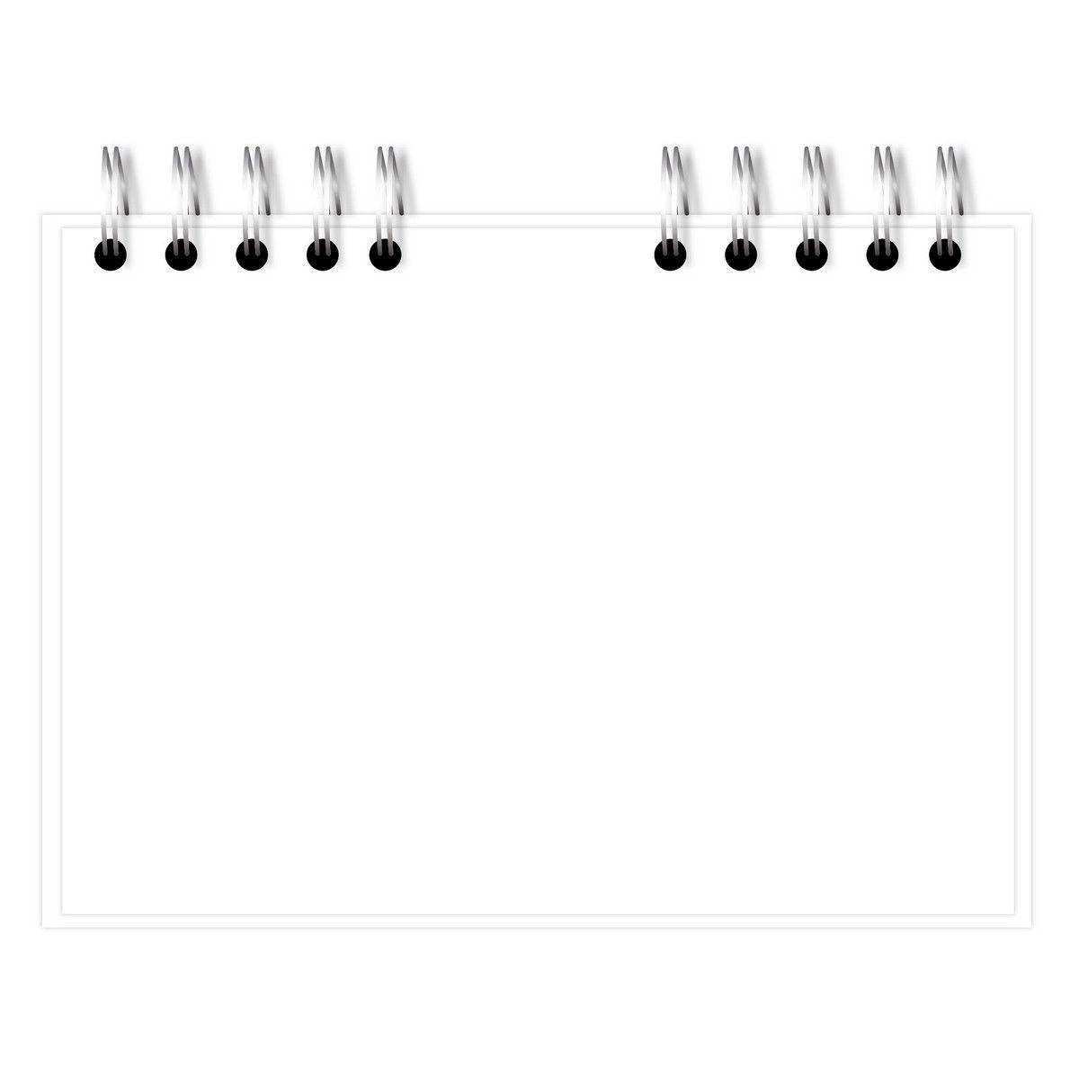 Sketchbook A5 Floral Branco Lubi