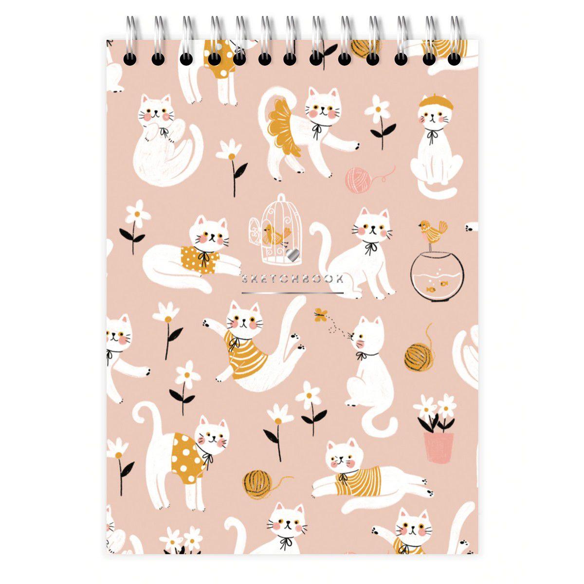 Sketchbook A5 Gato Rose Lubi