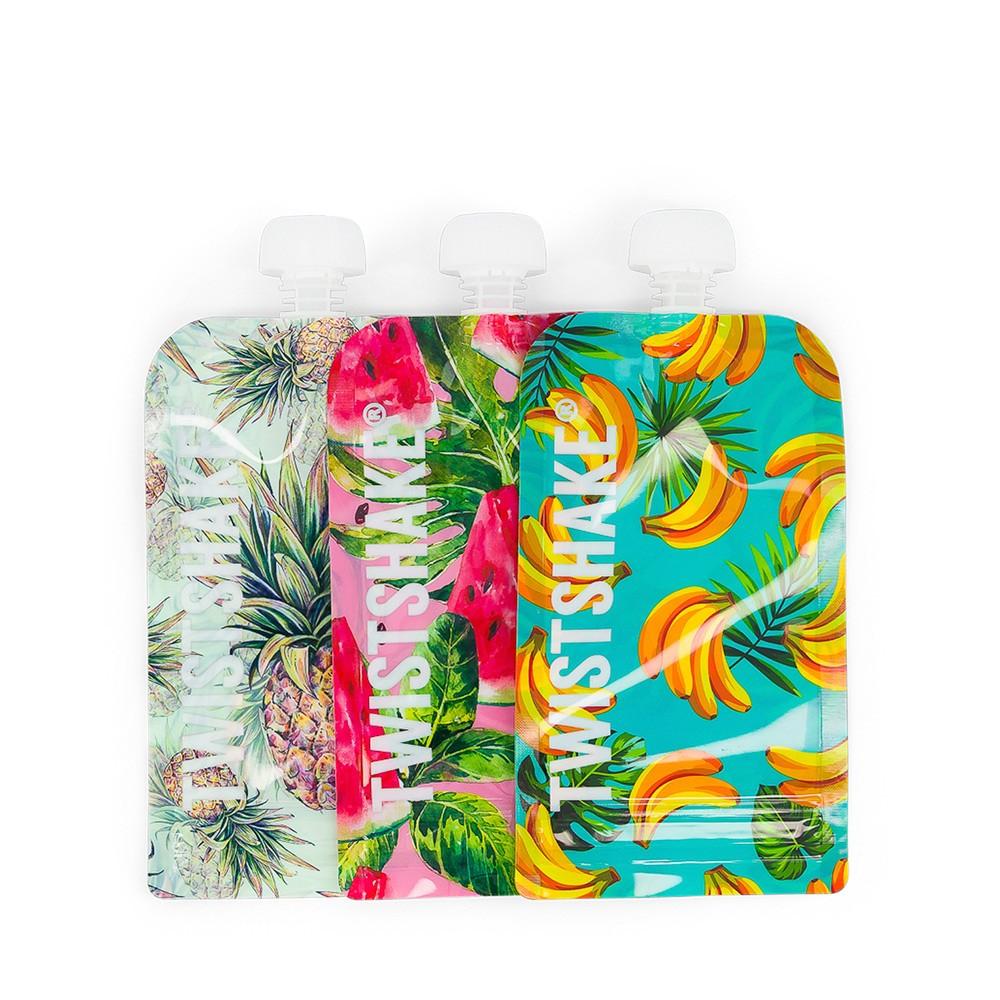 Squeeze Bag 3 unidades 220 ml Frutinhas Twistshake