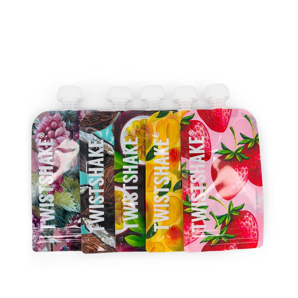 Squeeze Bag 5 unidades 220 ml Frutinhas Twistshake