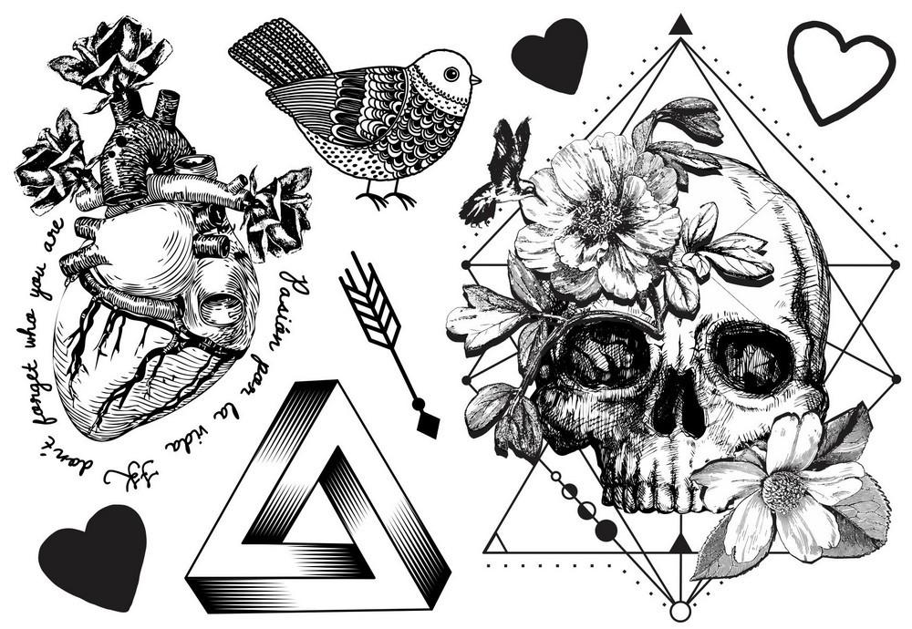 Tatuagem Temporária Geométrico Design Temporario