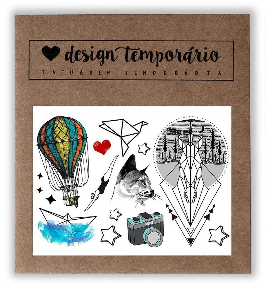 Tatuagem Temporária Lúdica Design Temporario