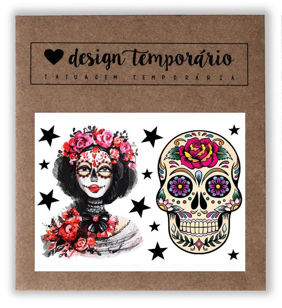Tatuagem Temporária Mexicana Design Temporario