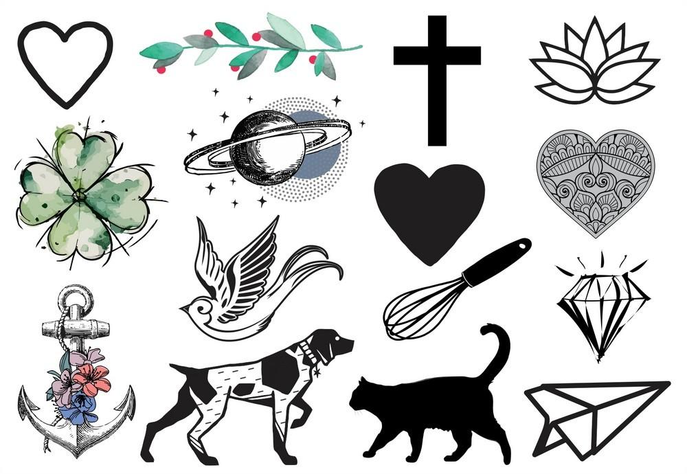 Tatuagem Temporária Mini Design Temporario