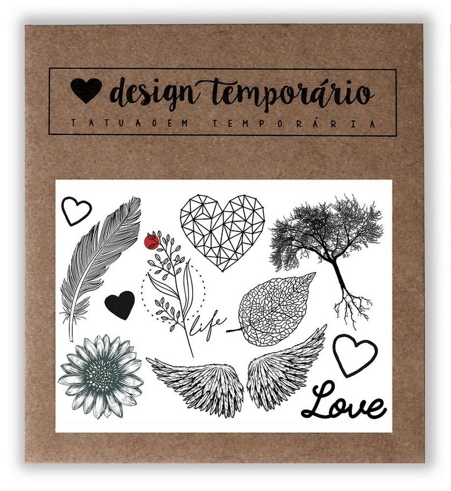 Tatuagem Temporária Natureza Design Temporário