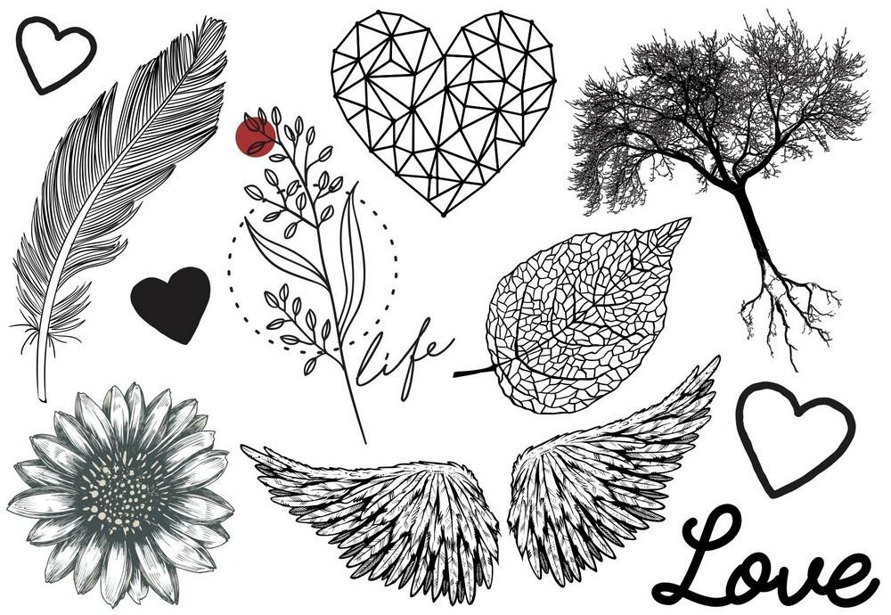 Tatuagem Temporária Natureza Design Temporario