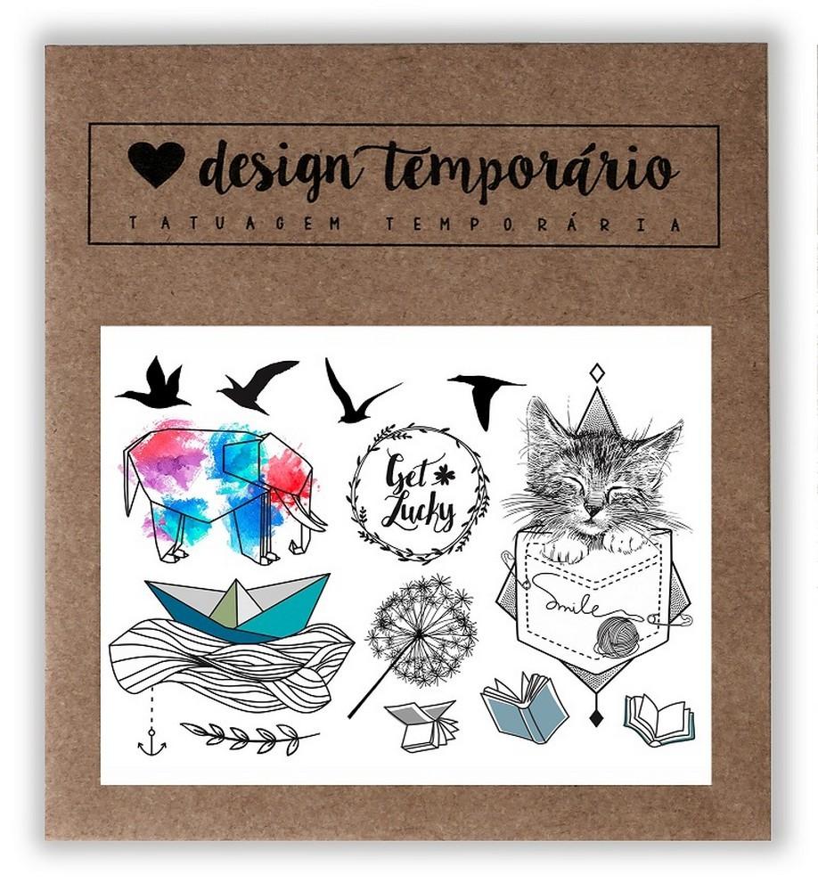 Tatuagem Temporária Sorte Design Temporario