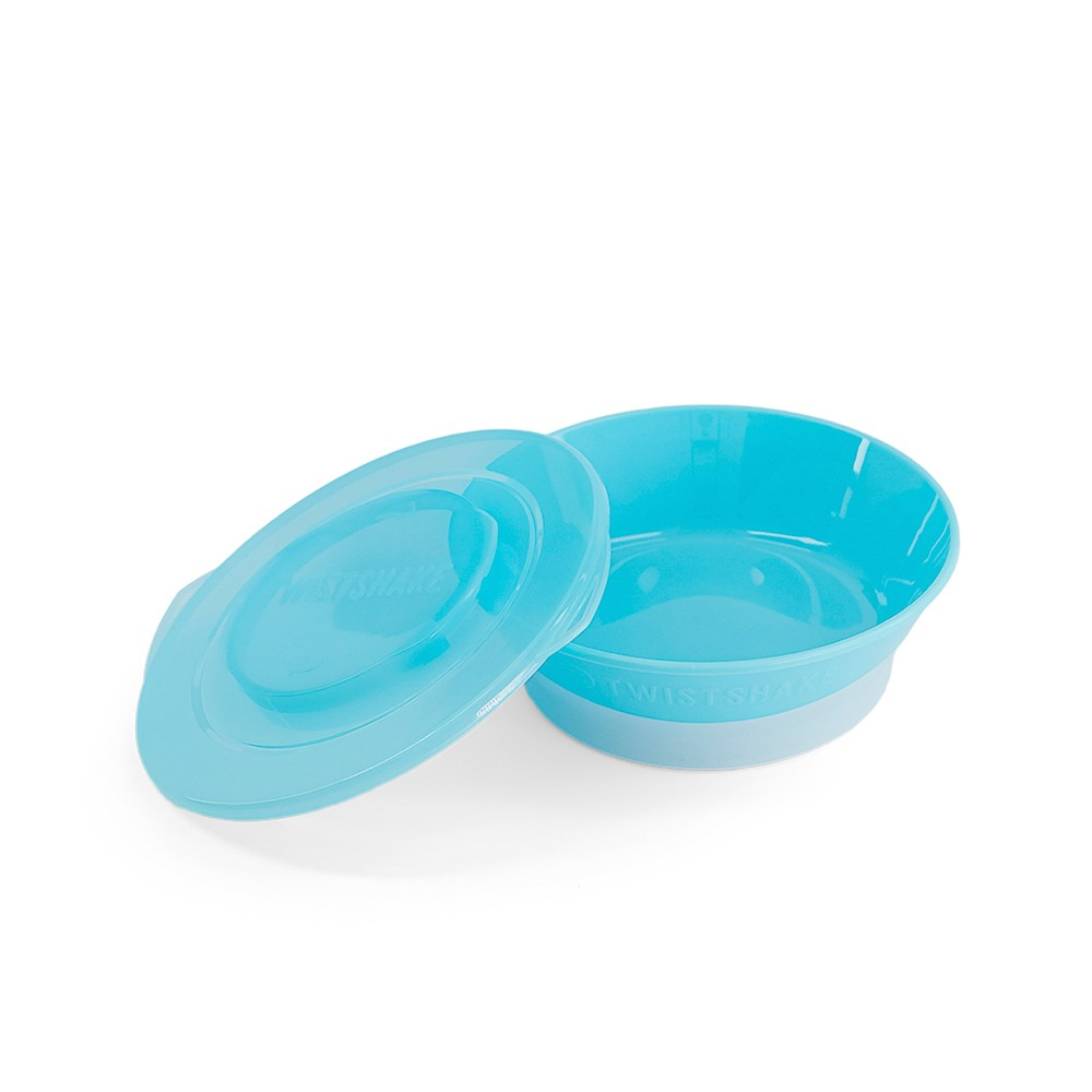 Tigela antiderrapante com tampa Azul Twistshake