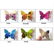 Adesivos de parede borboletas espelho 3D 12 pçs decoração da casa