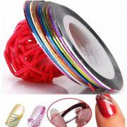 Adesivo fita colorida para 3 unid Unha Moda decalque para decorar