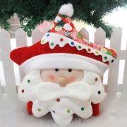 Almofada Estrela Papai Noel Feliz Natal de Sofá Encosto Natalina