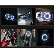 Angel Eyes Olhos de Anjo Led Cob  Luz Branca 12V 10W para Carro Moto decoração Luz de Circulação Diurna Unitário