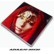 Azulejo 20 x 20cm Cerâmica Personalizado com foto escudo