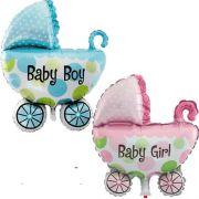 Balão Carrinho de Bebê para Chá de Bebê Festa de Aniversário Infantil