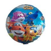 Balão Festa de Aniversário 18 polegadas Super Wings para Crianças