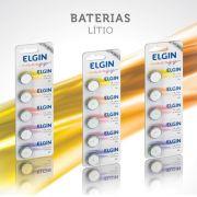 Bateria de Lítio 3unid Elgin 3V Tipo Botão ou Moeda