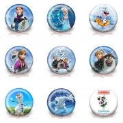 Broche Bottom da Frozen 30mm com alfinete 5 unidades