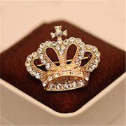 Broche Coroa Imperial Encantadora Cristal Festa Príncipe Princesa Rainha