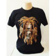 Camisa Algodão Preta com Estampa Silk