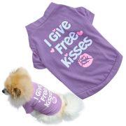 Camisa para Filhote de Cachorro animal de estimação Cão Pequeno Gato Roupas Pet Camiseta