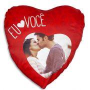 Capa Almofada Coração Eu Amo você Personalizada