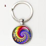 Chaveiro Mandala Geometria Sagrada jóias feitas à mão arte de vidro