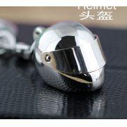 Chaveiro metálico capacete chaveiro carro moto