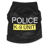 Colete Blusa Preta da Polícia Preto Filhote de PET Cachorro Cão ou Gato