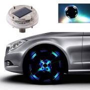 Lâmpada Luzes Decorativas 4 Modos de 12 LED Energia Solar liga automaticamente Roda Carro