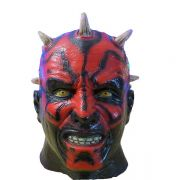 Máscara do Darth Maul de Star Wars Terror de látex cabeça inteira carnaval Halloween
