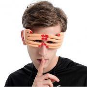 Máscara Óculos Engraçado em Forma de Mão Dedo