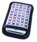 Mini Bolsa Porta Celular Reta Verso Preto 7x14cm Personalizada