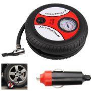Mini compressor de ar elétrico portátil 12V DC 260PSI Enche pneu do carro