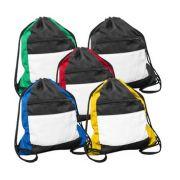 Mochila Sacola Esportiva em Tactel Personalizada c/ Ziper 35x41,5 cm