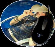 Mouse Pad Redondo Soldado Personalizado revestido tecido Diâmetro 20cm