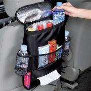 Organizador Multi Bolso para Encosto do Assento de Carro com Bolso Térmico