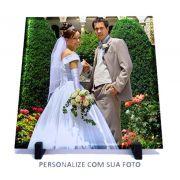Porta Retrato Vidro Fosco 20x20cm Personalizado com Suporte
