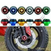 Protetor de Alumínio de Garfo Dianteiro Forquilha Quadro Roda Sliders Moto Proteção Scooter