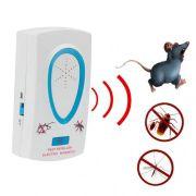 Repelente Eletrônico Ultrassônico contra pestes Mosquitos e Ratos e outros insetos