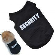 Roupa Colete do Pet Cão Filhote de Cachorro Security Segurança