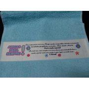 Toalha de Lavabo Faixa Personalizada com foto
