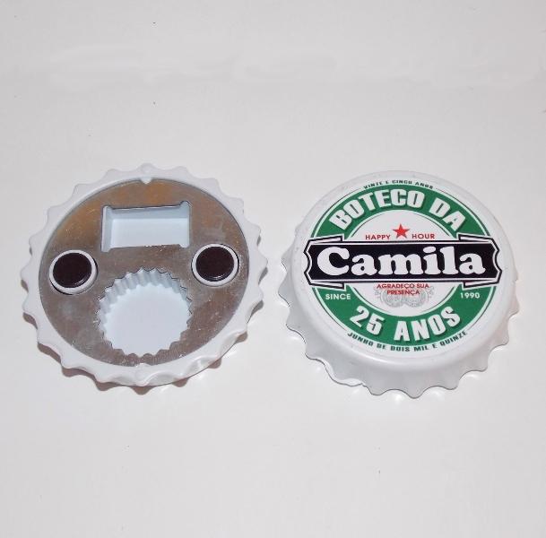 Abridor Tampa de Garrafa de Cerveja com Imã Personalizado