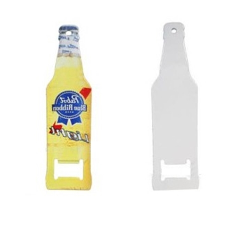 Abridor Formato Garrafa Cerveja Metálico  12x3cm Personalizado